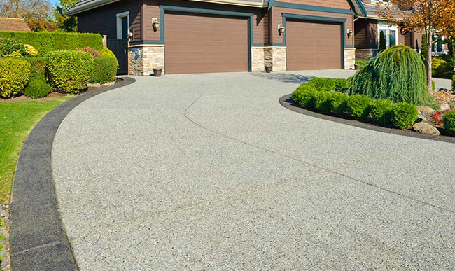 Grey resin paving and driveway.