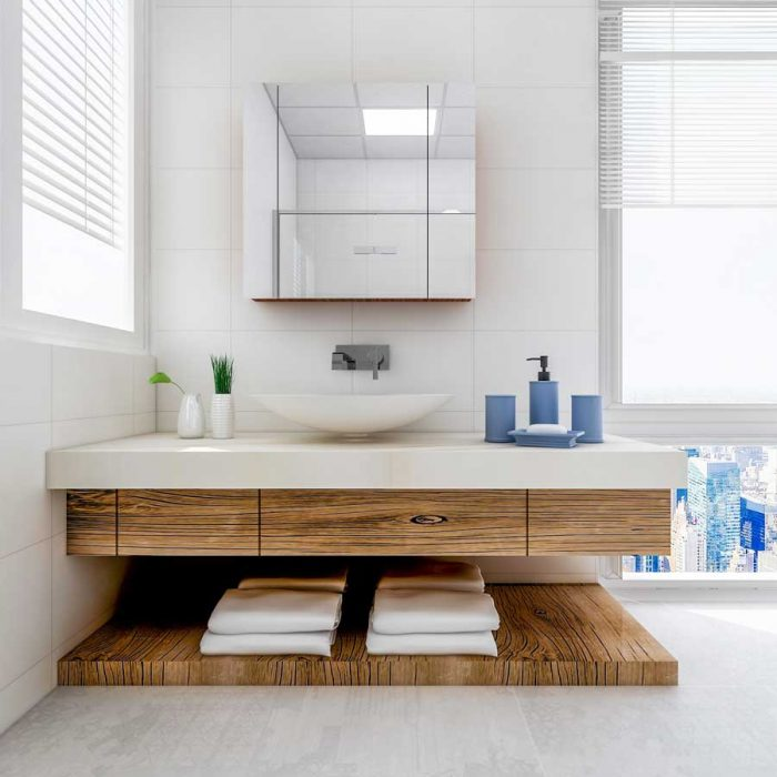 Superior quality bespoke vanity unit.