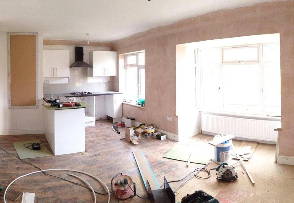 Kitchen renovation work in progress